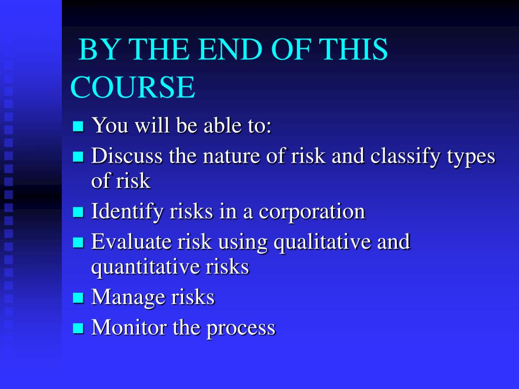 BY THE END OF THIS COURSE