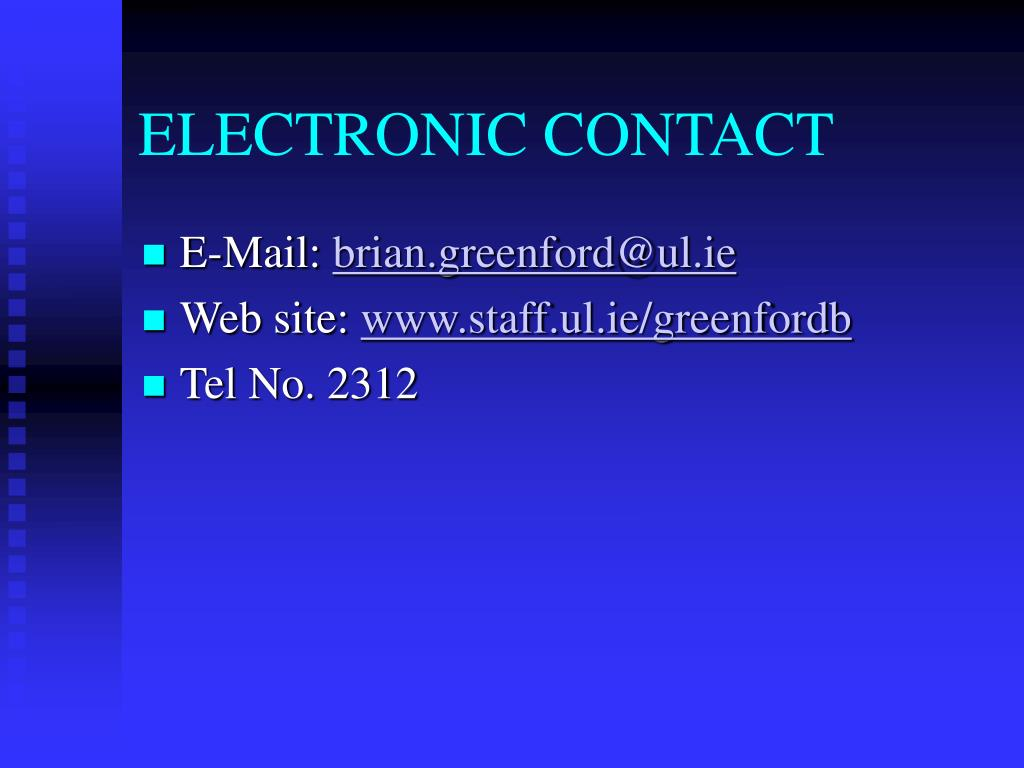 ELECTRONIC CONTACT