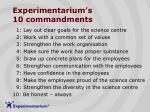 experimentarium s 10 commandments