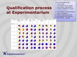 qualification process at experimentarium