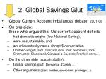 2 global savings glut