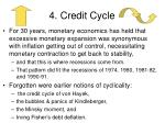 4 credit cycle
