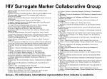 hiv surrogate marker collaborative group