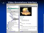 video annotations interface