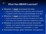 what has mbari learned