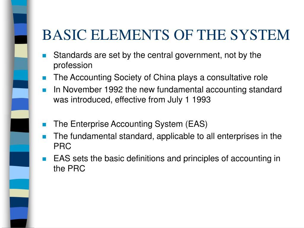 BASIC ELEMENTS OF THE SYSTEM