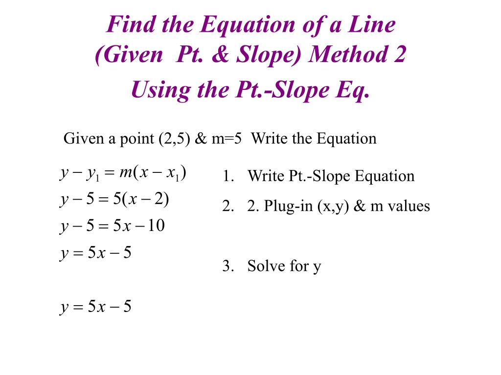 Find the Equation of a Line