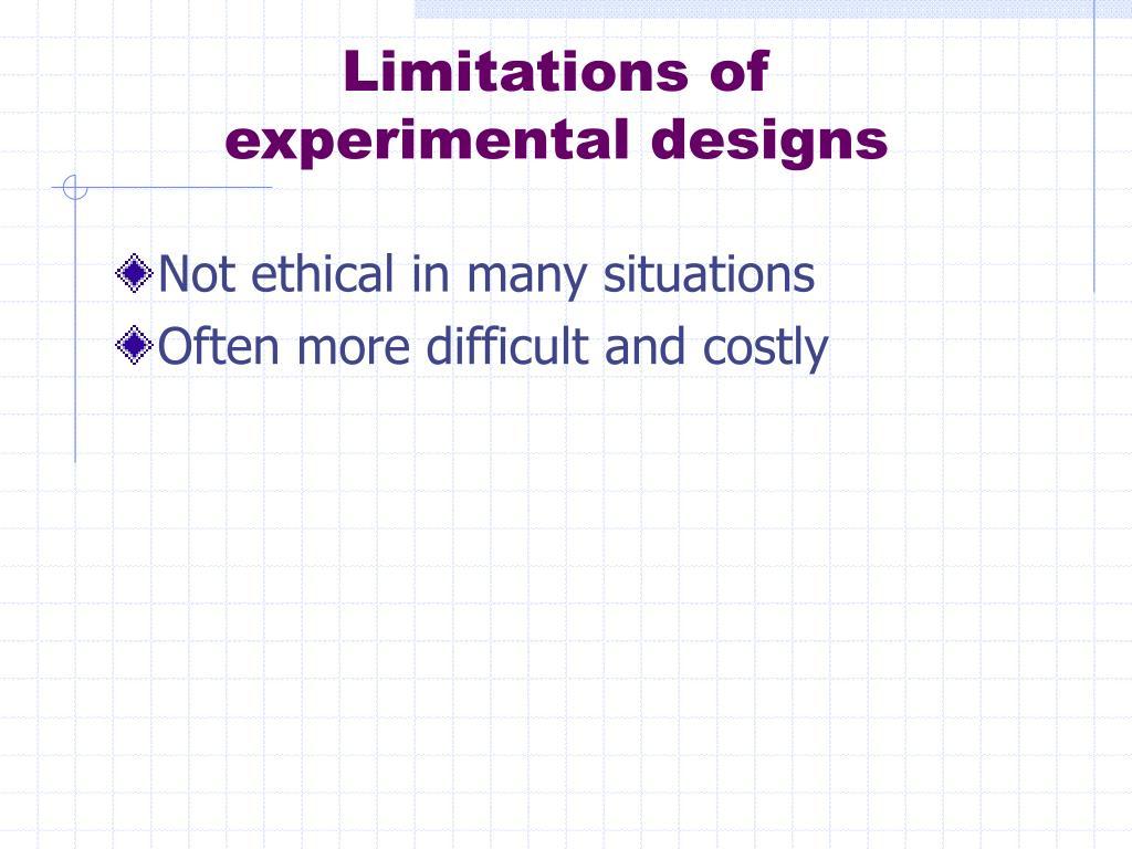 Limitations of