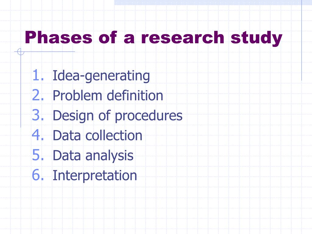 Phases of a research study