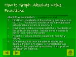 how to graph absolute value functions