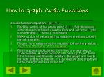 how to graph cubic functions