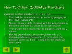 how to graph quadratic functions