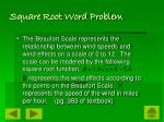 square root word problem