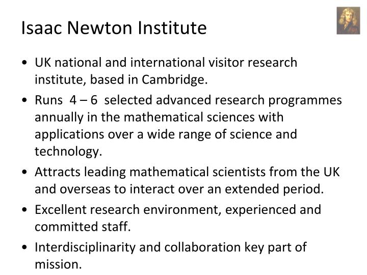 Isaac newton institute