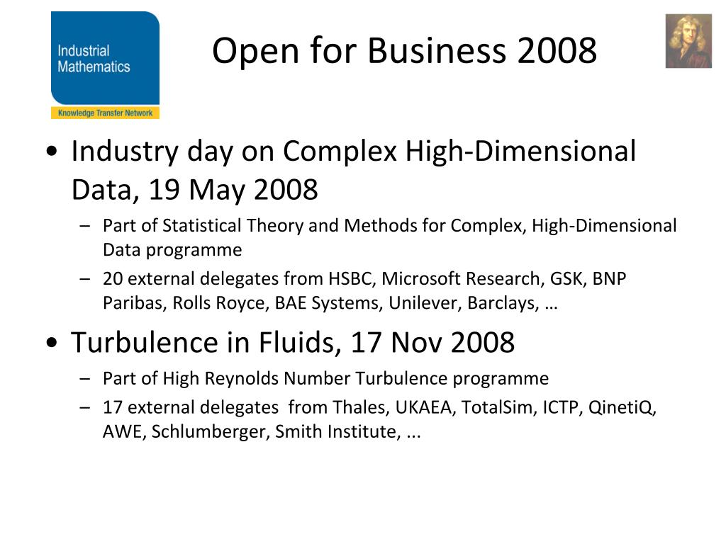 Open for Business 2008