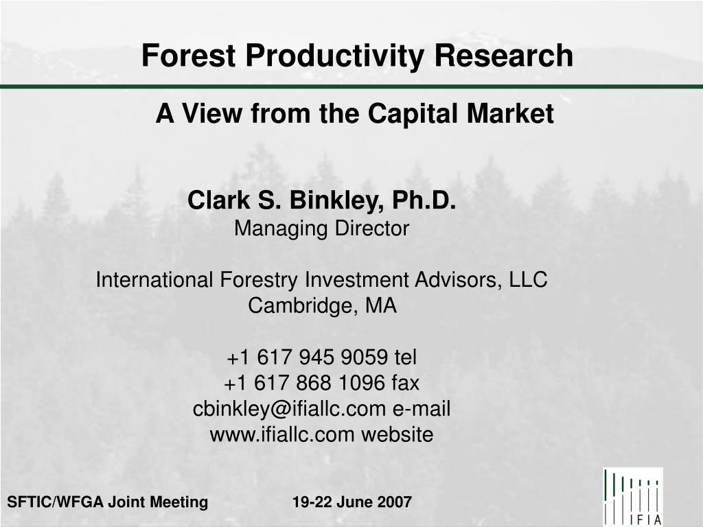 Forest Productivity Research