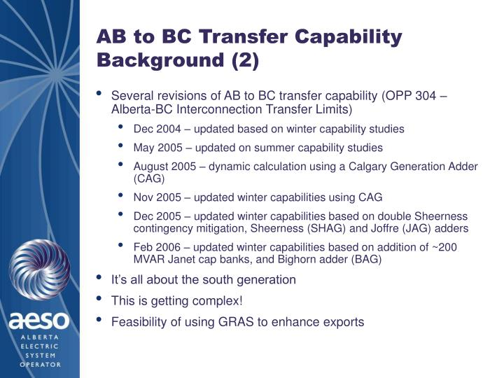 Ab to bc transfer capability background 2