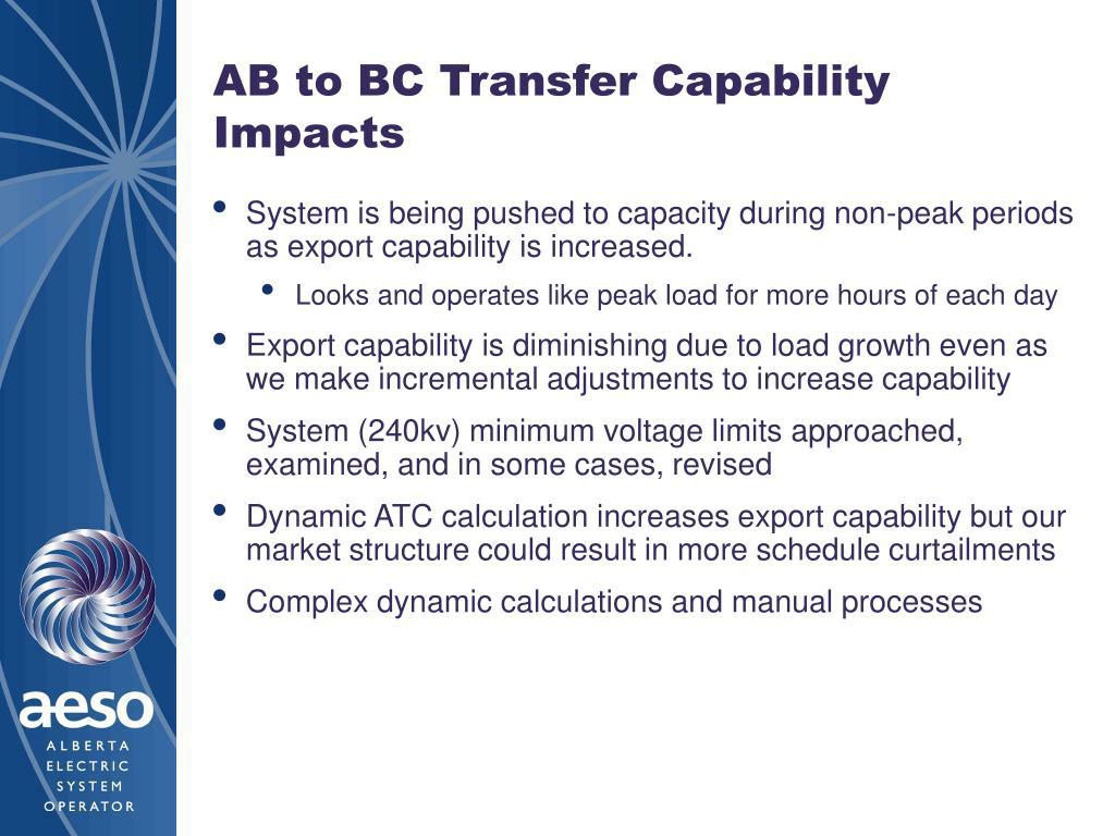 AB to BC Transfer Capability