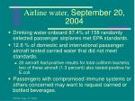 airline water september 20 2004