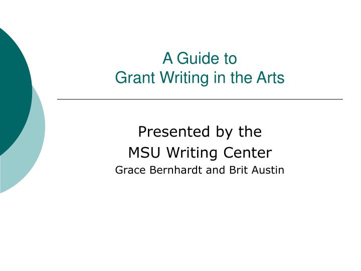 a guide to grant writing in the arts n.