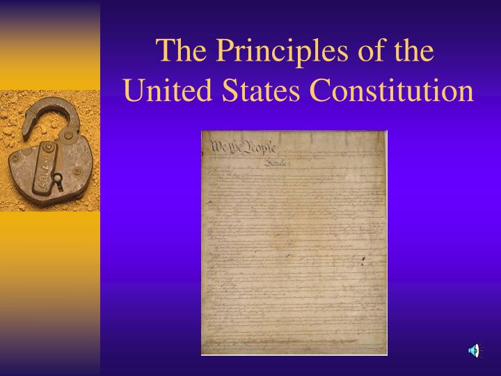 the principles of the united states constitution n.