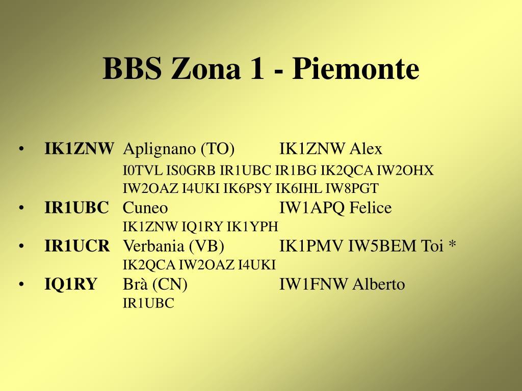 BBS Zona 1 - Piemonte
