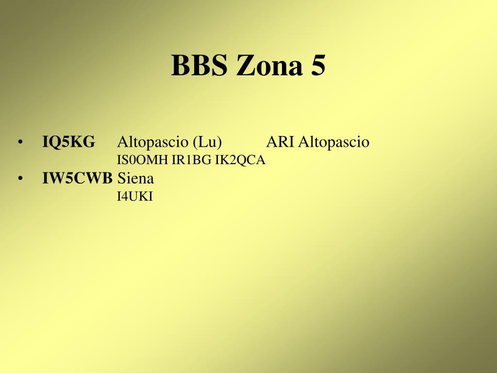 BBS Zona 5