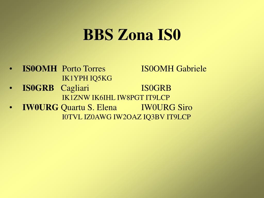 BBS Zona IS0