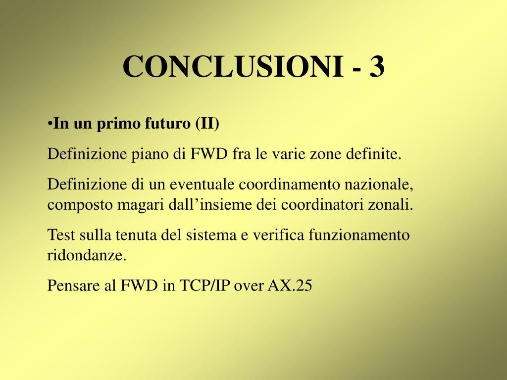 CONCLUSIONI - 3