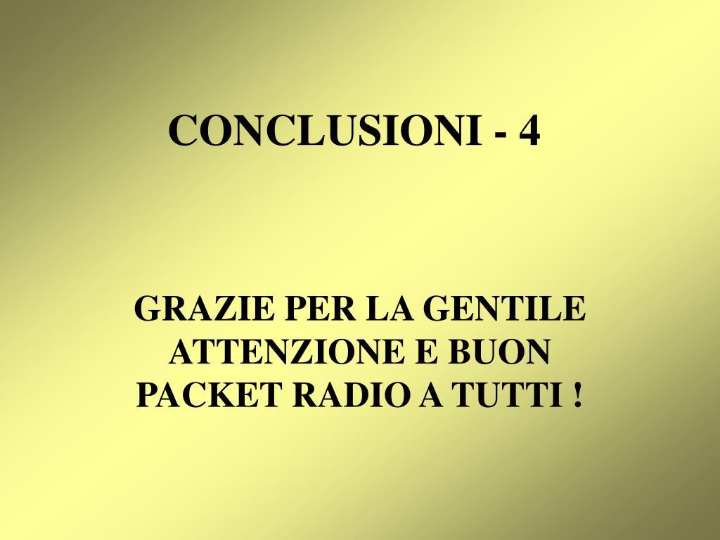 CONCLUSIONI - 4