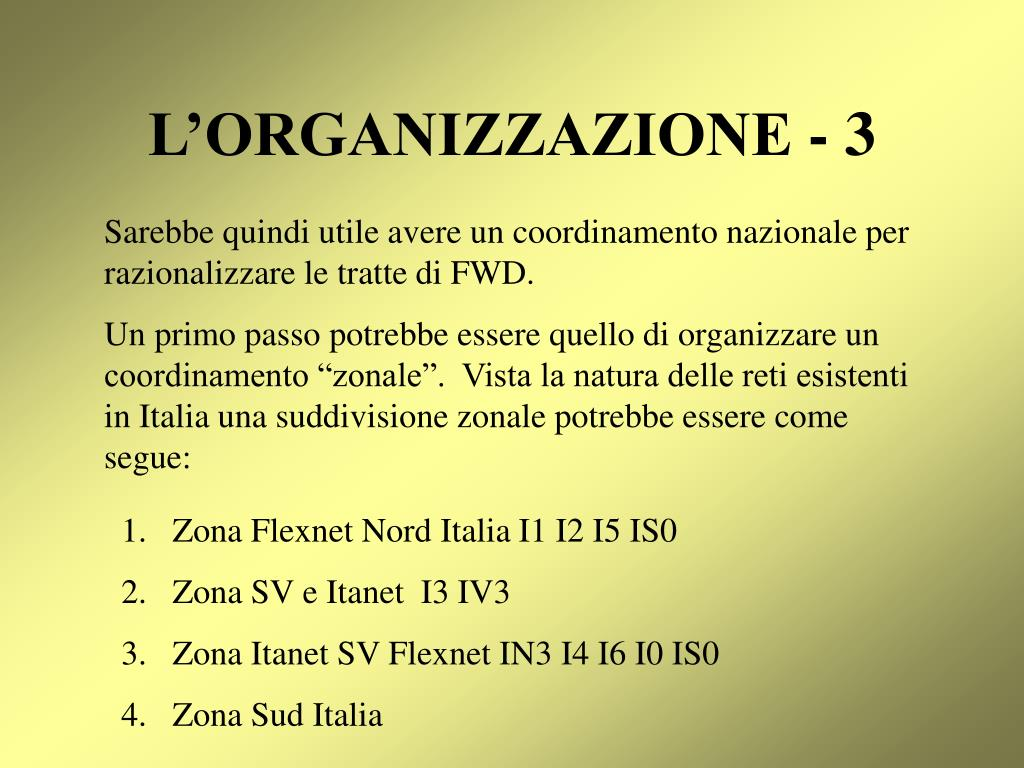 L'ORGANIZZAZIONE - 3