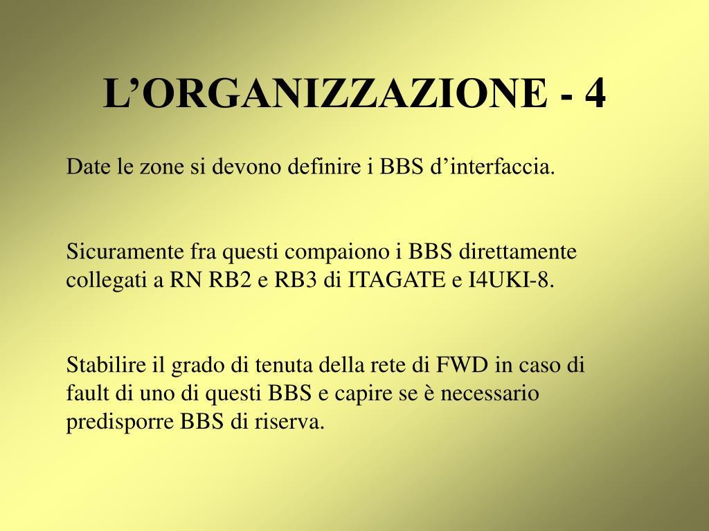 L'ORGANIZZAZIONE - 4