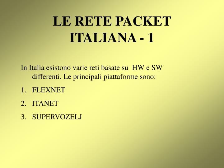 Le rete packet italiana 1