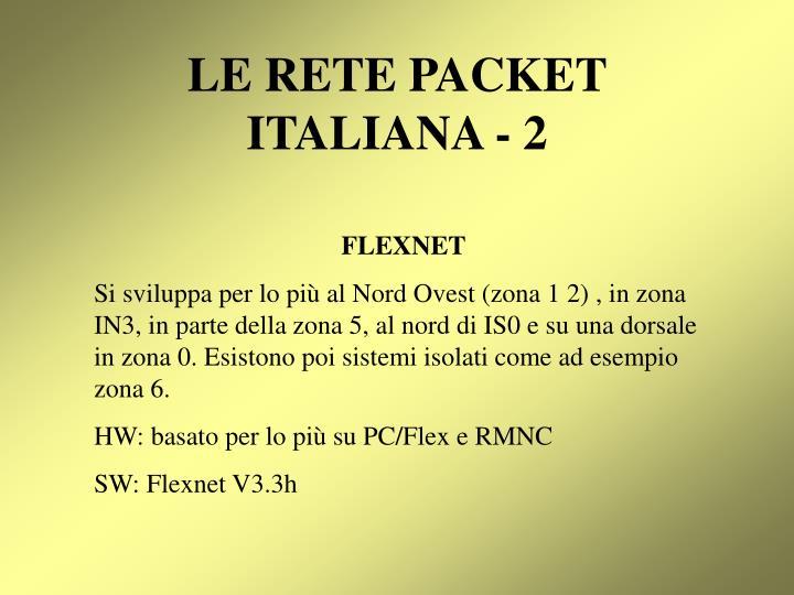 Le rete packet italiana 2