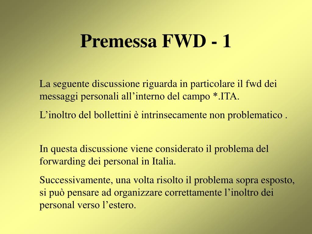Premessa FWD - 1
