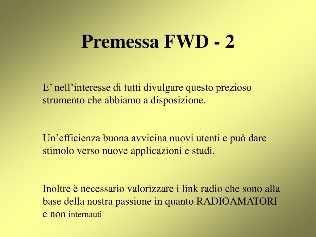 Premessa FWD - 2