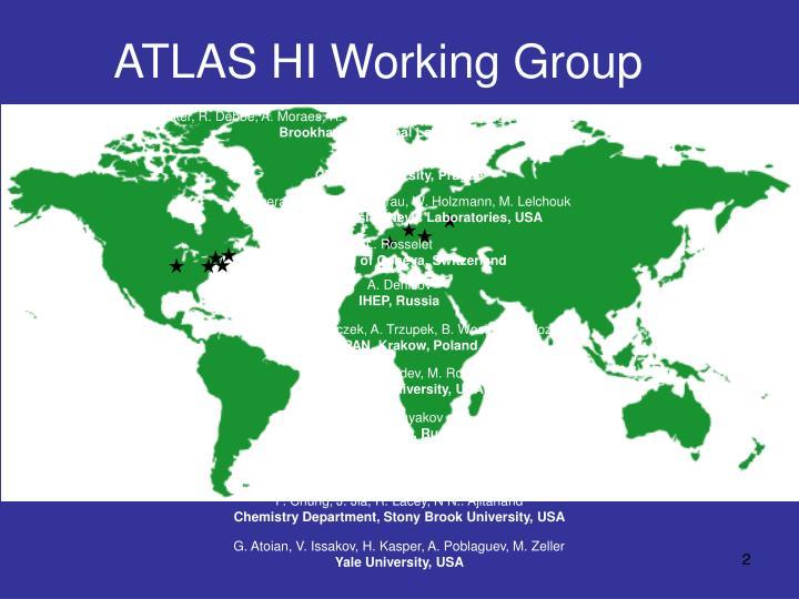 Atlas hi working group