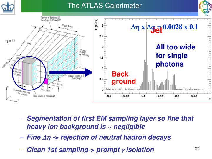 Segmentation of first EM sampling layer so fine that heavy ion background is ~ negligible
