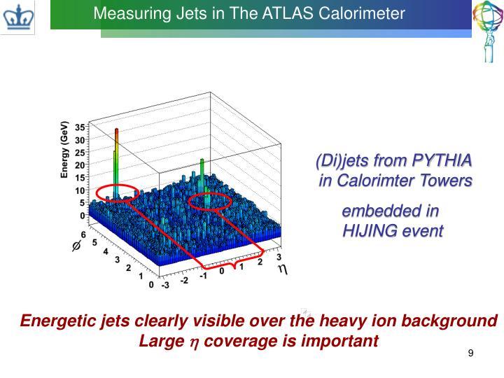 Measuring Jets in The ATLAS Calorimeter