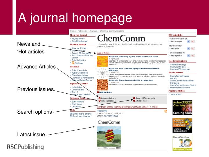 A journal homepage