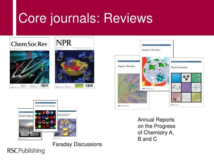 Core journals: Reviews