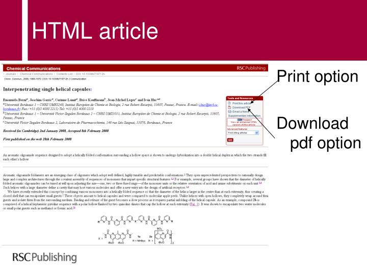 HTML article