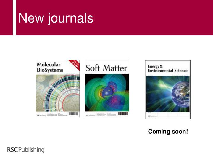 New journals