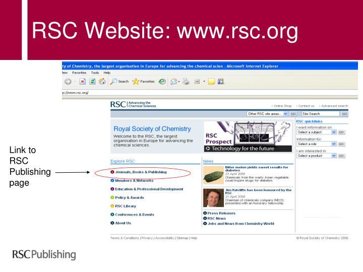 RSC Website: www.rsc.org
