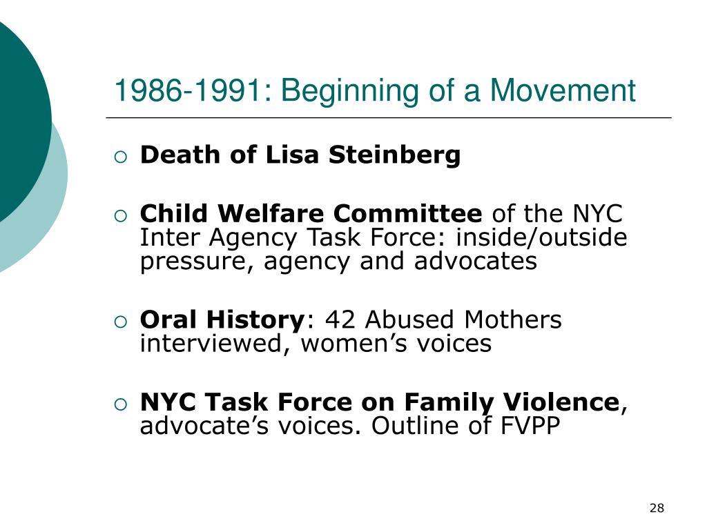 1986-1991: Beginning of a Movement