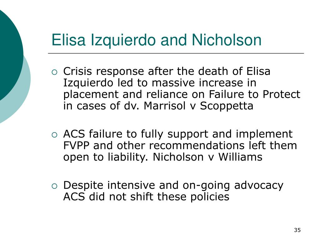 Elisa Izquierdo and Nicholson