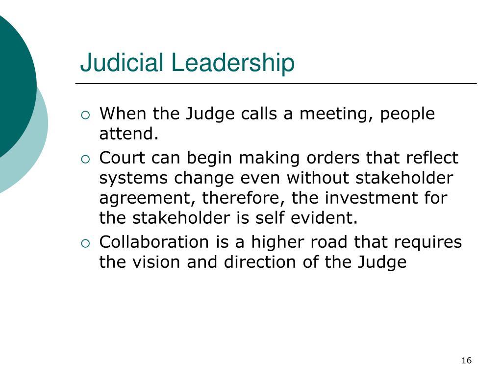 Judicial Leadership