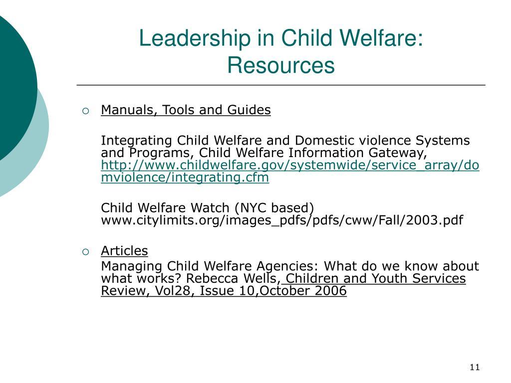 Leadership in Child Welfare: