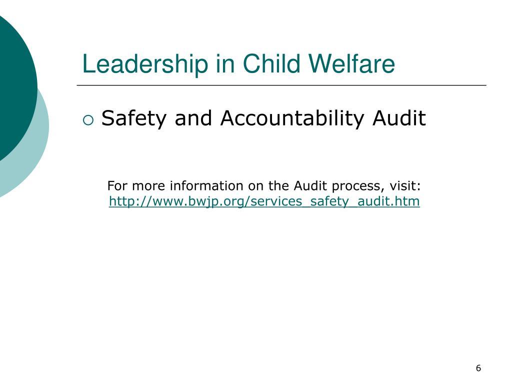 Leadership in Child Welfare