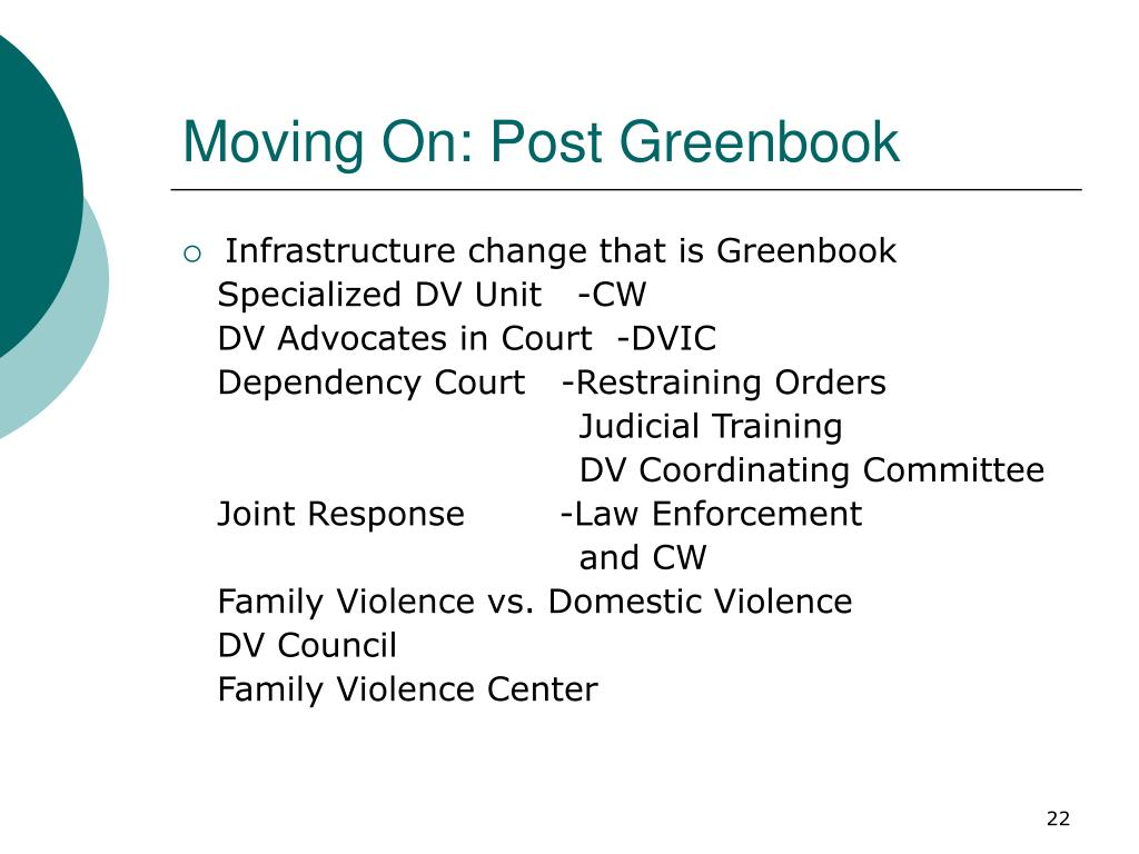 Moving On: Post Greenbook